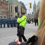 Police with Assault Rifles, seemed very unCanadian until..