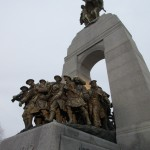 Wreaths laid at the tomb of the unknown soldier in Ottawa Canada
