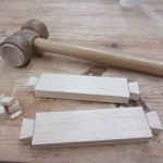 Start of a dovetail joint at the Ottawa City Woodshop
